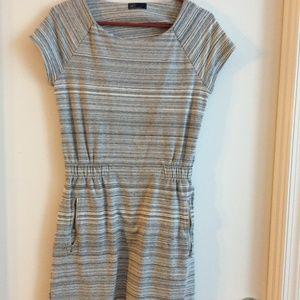 Gap grey stripe casual dress- Size S